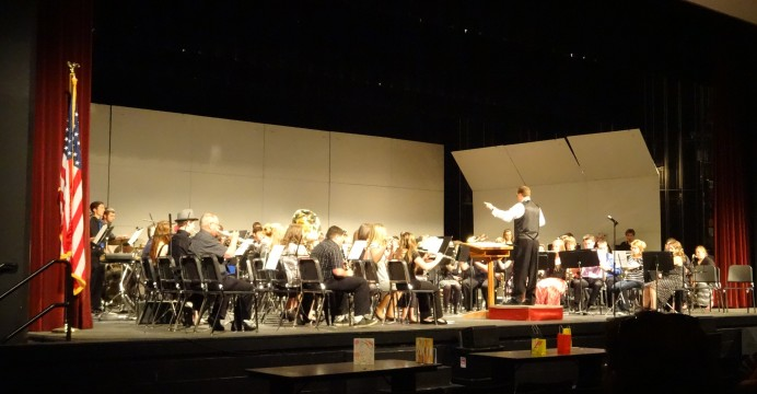 Members of the Antigo Area Community Band joined the high school bands at their spring concert. The Community Band will perform their spring concert, Sunday May 17th at the Volm Theater.