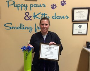 Our second place recipient in the 2016 Women in Business Award voting - Laura Solin of Pampered Paws Pet Grooming.