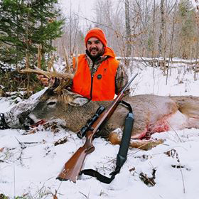 Tyler Zarda with his buck from the 2018 Gun Deer Season