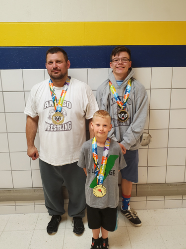 Golden Robins Jason Hohensee. Logan Desjarlais and Mike Hagerty.