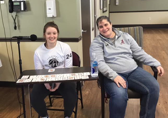 Antigo Girls Basketball Team plays games with The Bay at Eastview residents 1